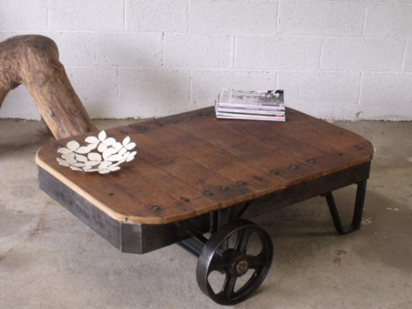 Table basse industrielle - Mobilier industriel